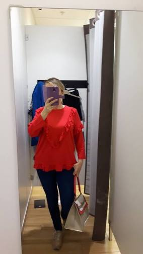 dunnes red frill