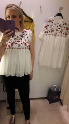zara top and dress