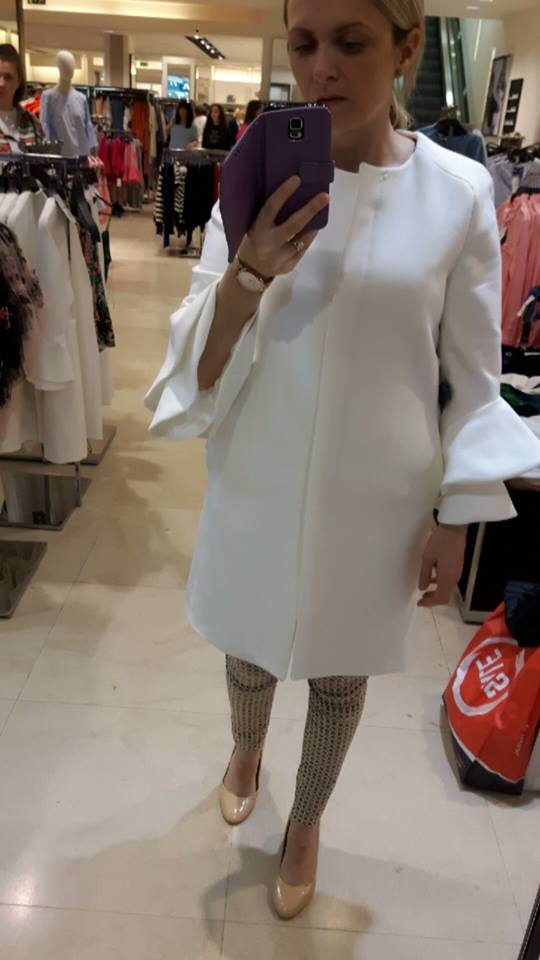 16th zara white coat