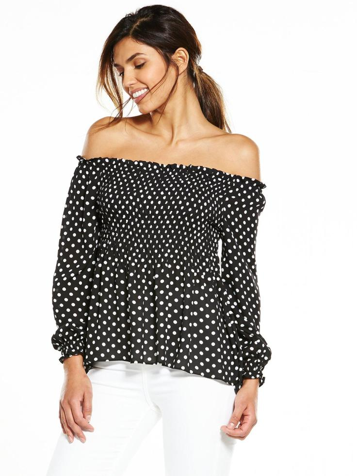 blog 30th dotty off shoulder littlewoods