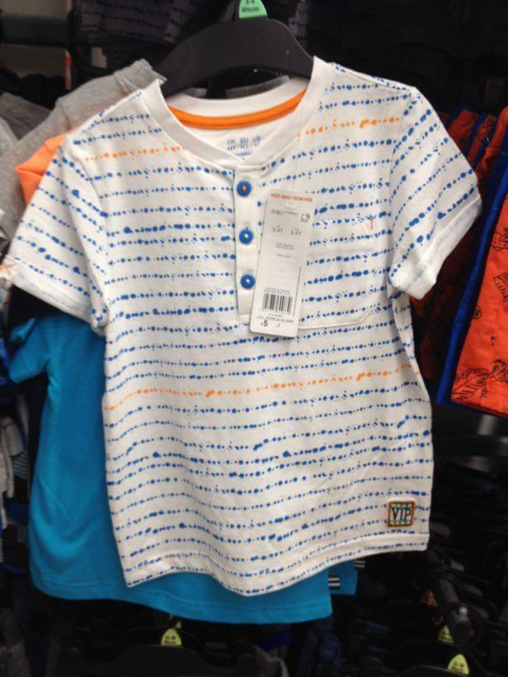 14th boys granda collar tshirt