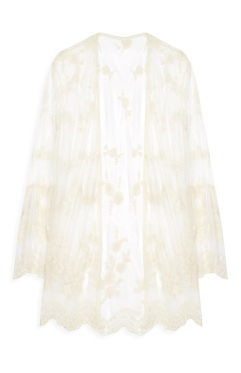 11th cream lace robe