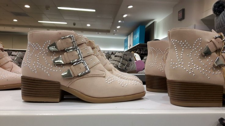 25th penneys stud boots ,blush and nude colours