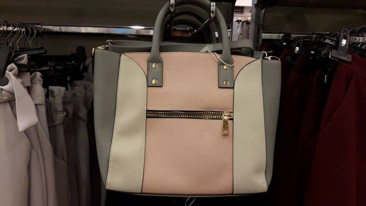 31st penneys pink grey bag