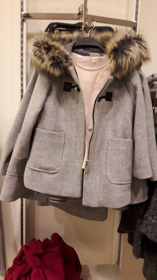 31st zara grey fur coat
