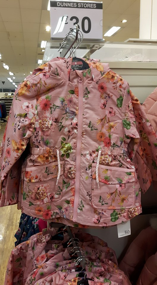 5th dunnes girls raincoat