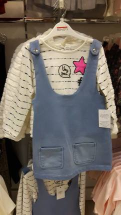 28th Born girls pinafore