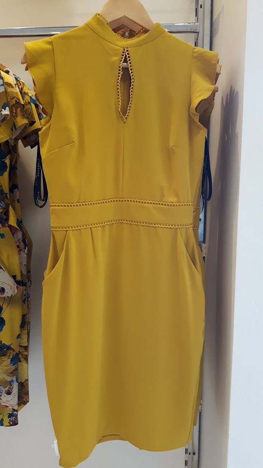 28th born mustard dress