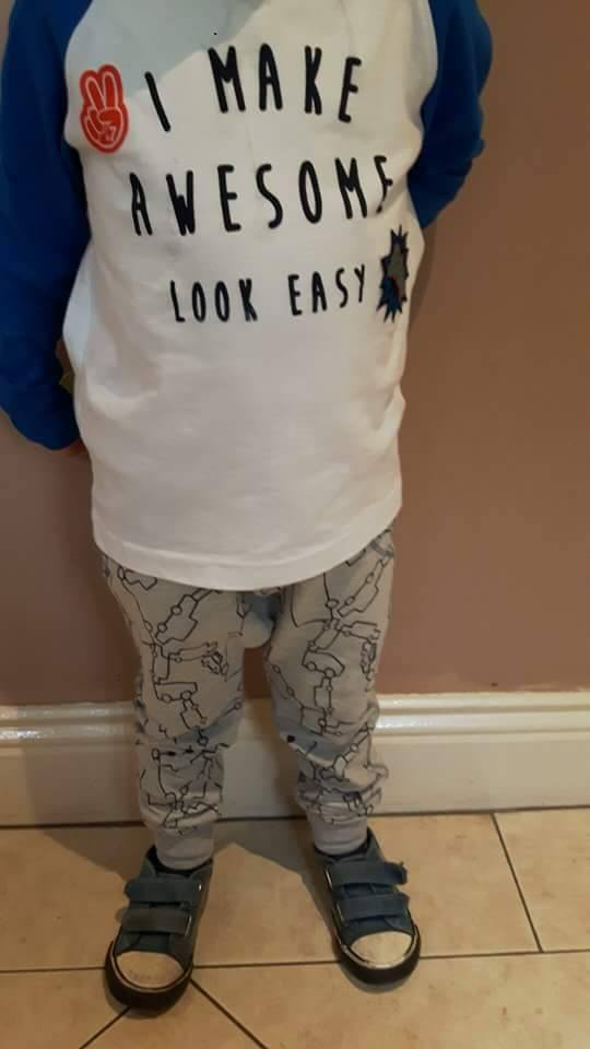 28th boys dunnes awesome top and zara joggers