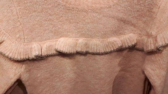 28th dunnes girl frill jumper close up