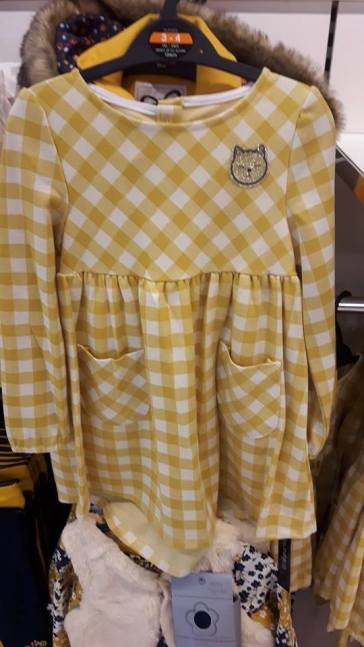 28th dunnes girls mustard cat dress