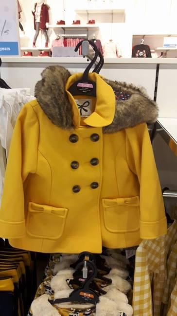 28th dunnes mustard fur coat girls