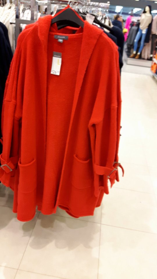8th long red cardi womens penneys