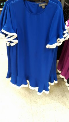 8th Penneys cobalt blue dress