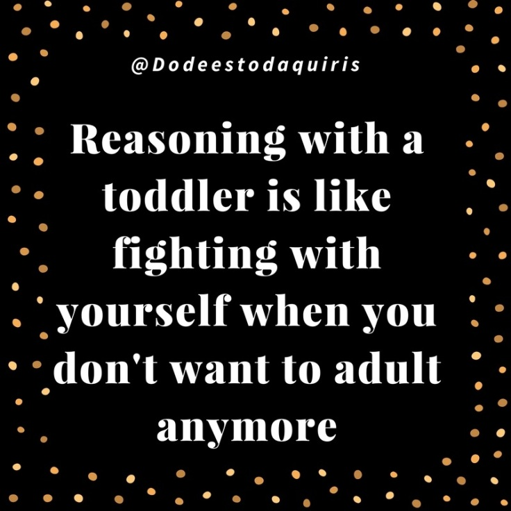 Blog quote reasoning with a toddler