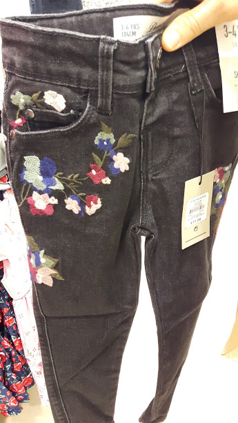 13th floral jeans
