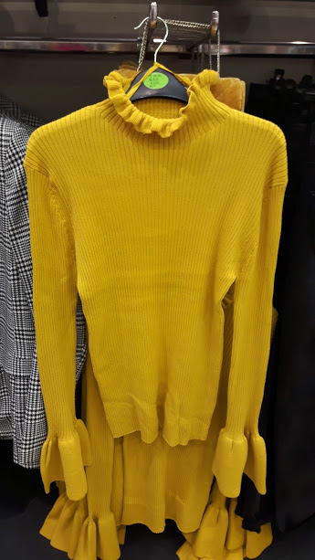 13th penneys mustard ribbed jumper