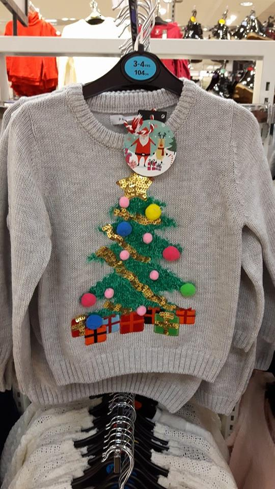 6th christmas tree jumper