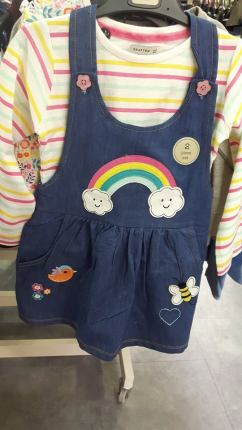 heatons girls pinafore