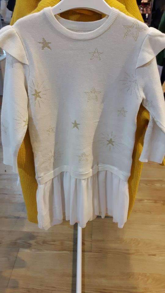 outfit girls cream star