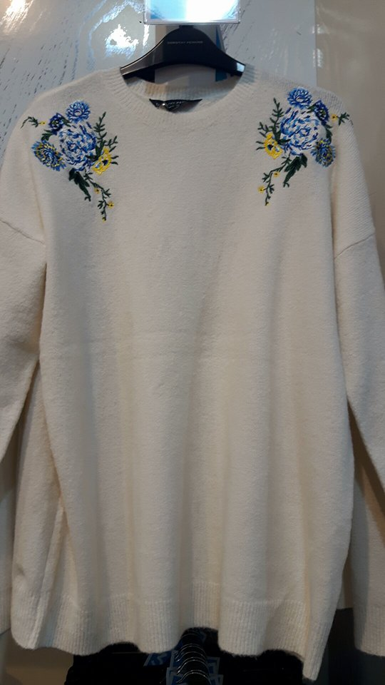 dp cream floral jumper