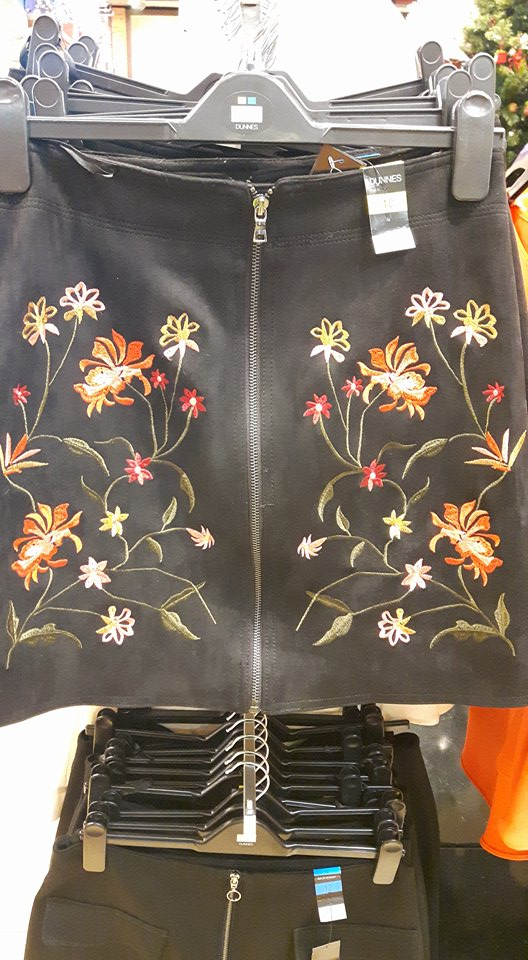 dunnes skirt floral