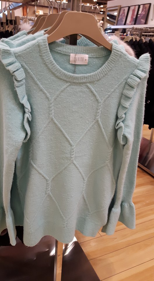 dunnes turquoise frill jumper
