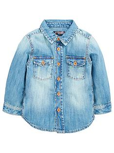 lwoods boys denim shirt
