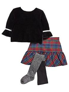 lwoods girls top and skirt and tights