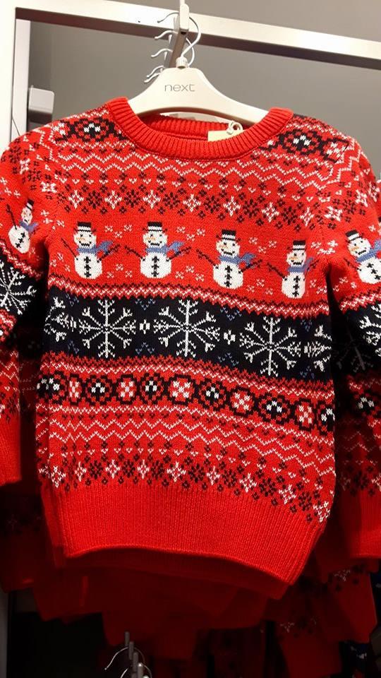 next boys christmas jumper