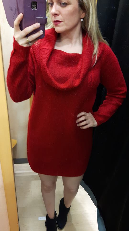 red roll neck