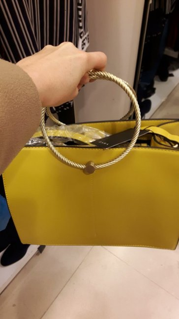 zara bag yellow