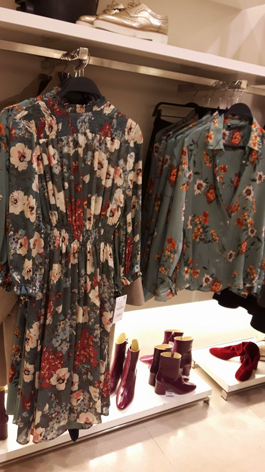 zara floral dress and shirt
