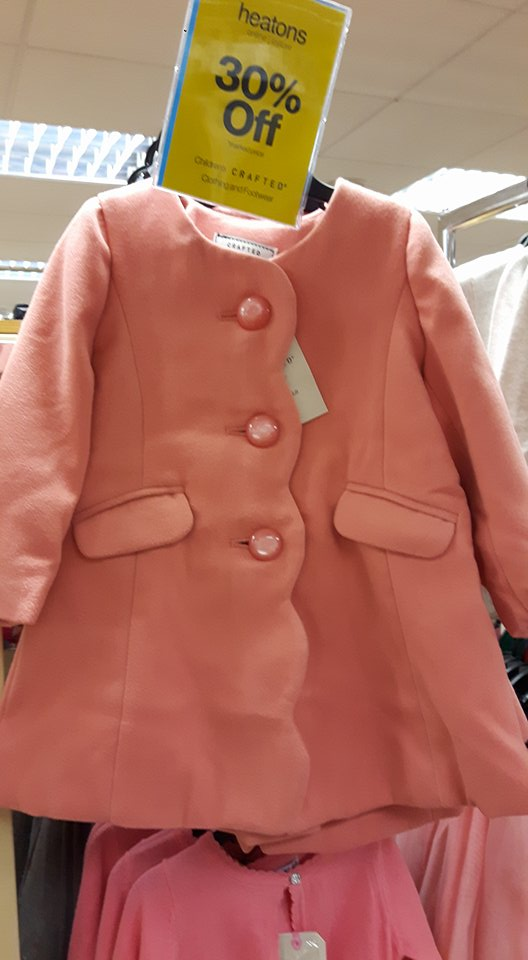 heatons pink coat
