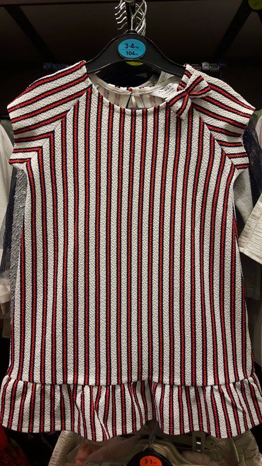 penneys girls dress striped