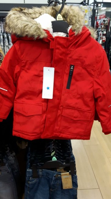 tesco boys red coat