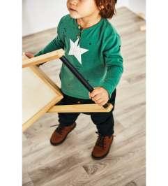 zara green star top