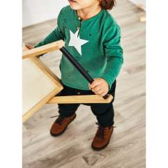 zara green star top