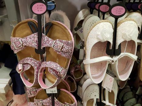 pink glitter sandals