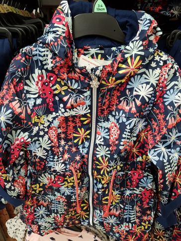 tesco floral rain coat