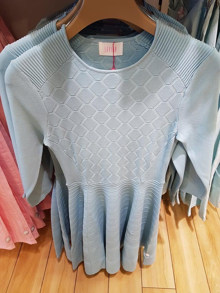 Savida blue knit dress