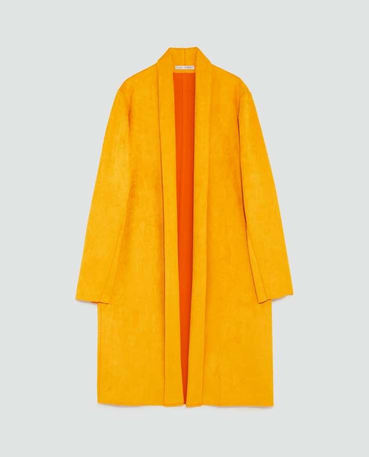 13th zara suede coat