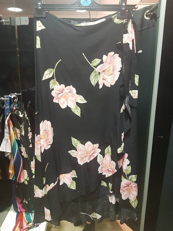 floral skirt...