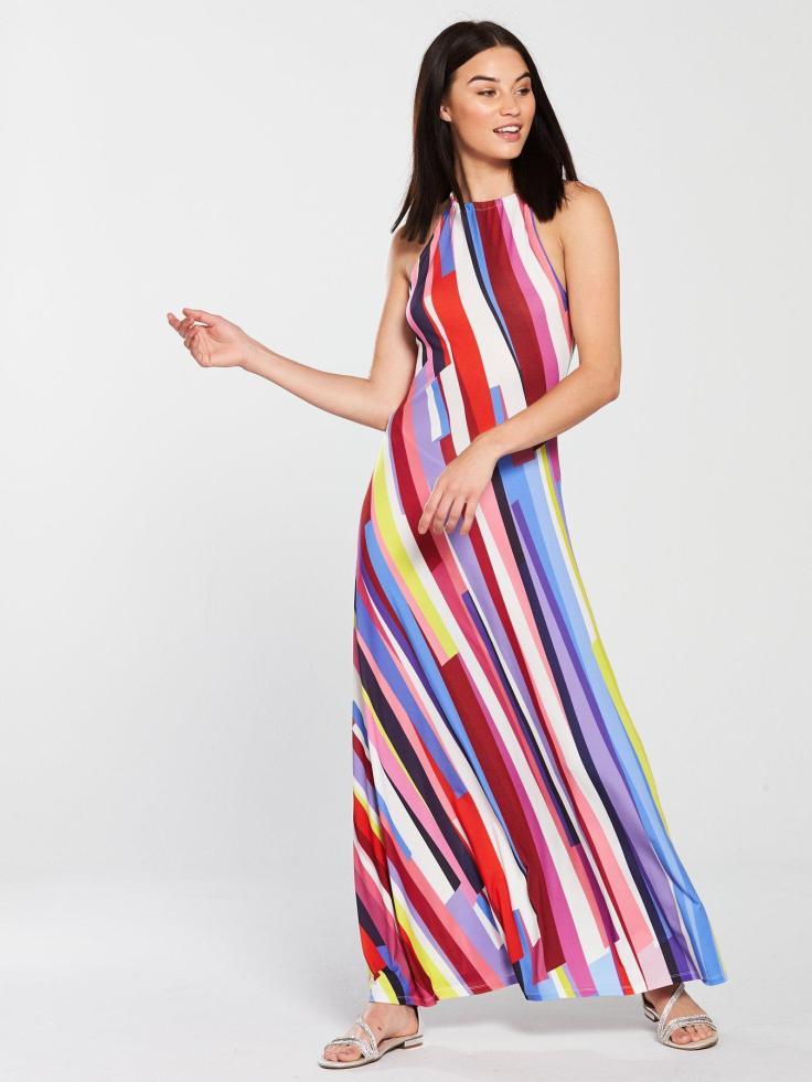 striped maxi.