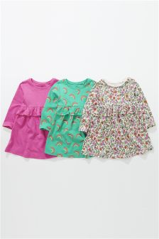 3 pack coloured dresses