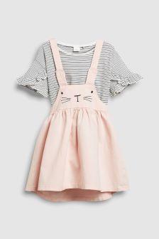 pink bunny pinny.